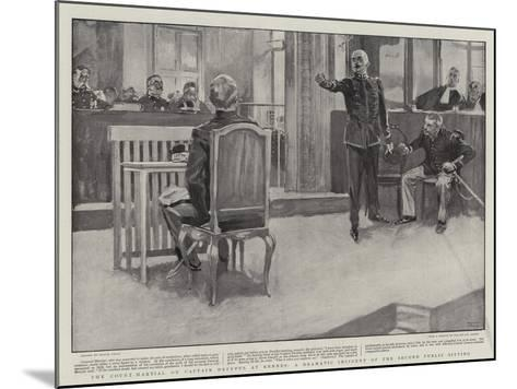The Court-Martial on Captain Dreyfus at Rennes, a Dramatic Incident of the Second Public Sitting-Frank Craig-Mounted Giclee Print