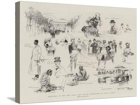 Sketches at the New India and Ceylon Exhibition at Earl's Court-Frank Craig-Stretched Canvas Print