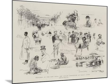 Sketches at the New India and Ceylon Exhibition at Earl's Court-Frank Craig-Mounted Giclee Print