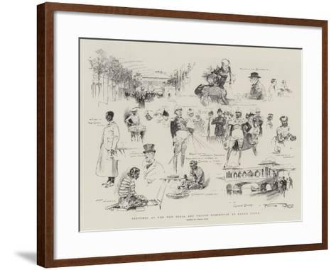 Sketches at the New India and Ceylon Exhibition at Earl's Court-Frank Craig-Framed Art Print