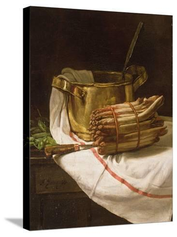 Still Life with Asparagus, 1881-Francois Bonvin-Stretched Canvas Print