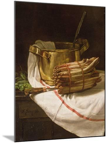 Still Life with Asparagus, 1881-Francois Bonvin-Mounted Giclee Print