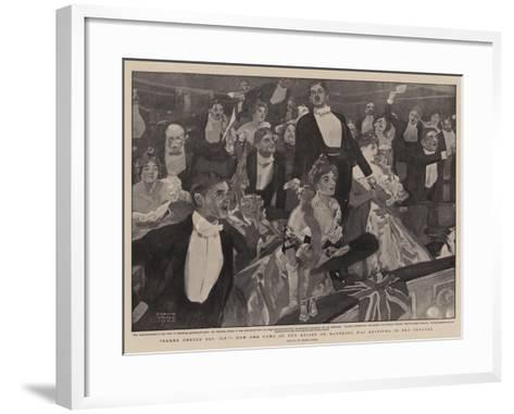 Three Cheers for 'B-P', How the News of the Relief of Mafeking Was Received in the Theatre-Frank Craig-Framed Art Print