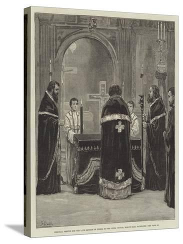 Memorial Service for the Late Emperor of Russia in the Greek Church, Moscow-Road, Bayswater-Frank Dadd-Stretched Canvas Print