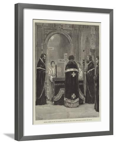 Memorial Service for the Late Emperor of Russia in the Greek Church, Moscow-Road, Bayswater-Frank Dadd-Framed Art Print