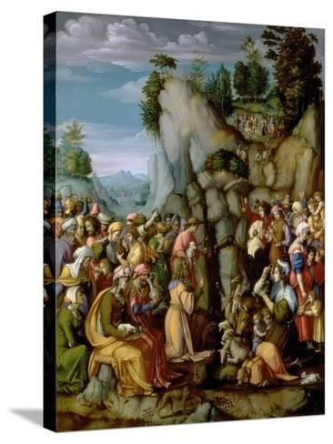 Moses Striking the Rock, after 1525 (Panel)-Francesco Ubertini Bacchiacca Il-Stretched Canvas Print