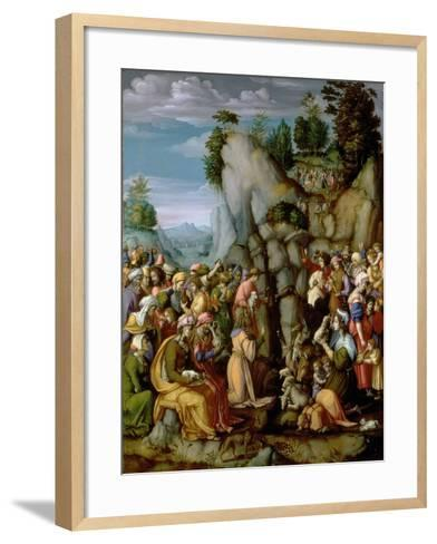 Moses Striking the Rock, after 1525 (Panel)-Francesco Ubertini Bacchiacca Il-Framed Art Print