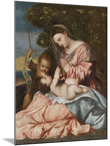 Madonna and Child with the Infant John the Baptist, C.1515-25-Francesco Vecellio-Mounted Giclee Print