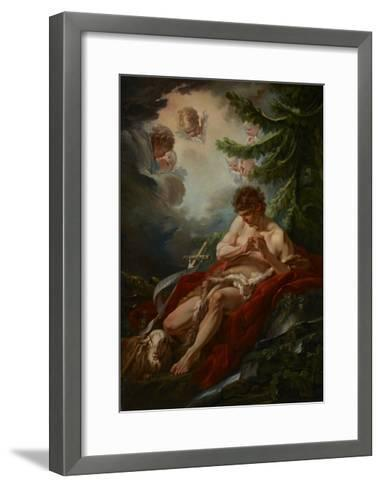 Saint John the Baptist, C.1755-Francois Boucher-Framed Art Print