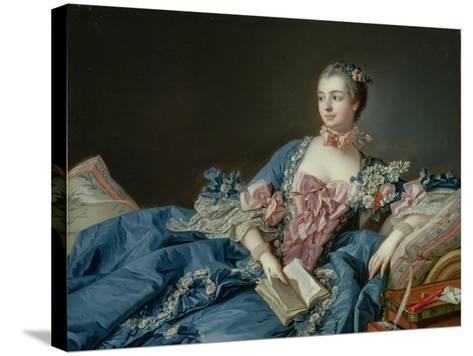 Madame De Pompadour, C.1758-Francois Boucher-Stretched Canvas Print