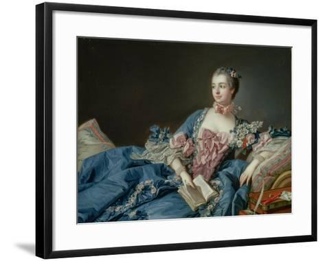 Madame De Pompadour, C.1758-Francois Boucher-Framed Art Print