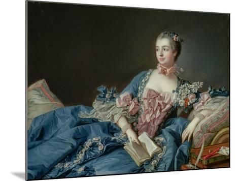 Madame De Pompadour, C.1758-Francois Boucher-Mounted Giclee Print