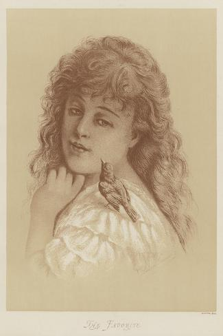 The Favorite-Florence Claxton-Stretched Canvas Print