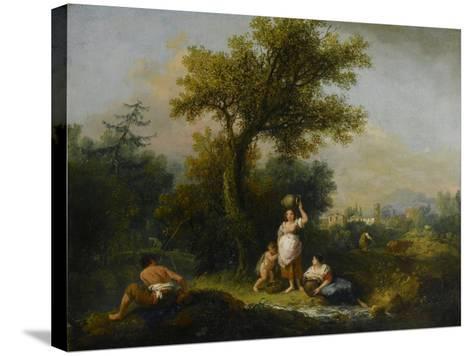 A Landscape-Francesco Zuccarelli-Stretched Canvas Print