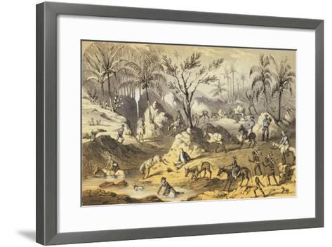 Crossing the Isthmus-Francis Samuel Marryat-Framed Art Print