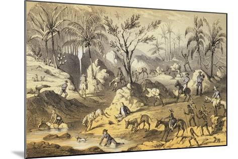 Crossing the Isthmus-Francis Samuel Marryat-Mounted Giclee Print