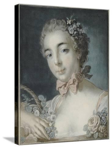 Head of Flora, 1769-Francois Boucher-Stretched Canvas Print
