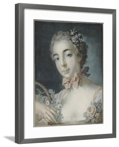 Head of Flora, 1769-Francois Boucher-Framed Art Print