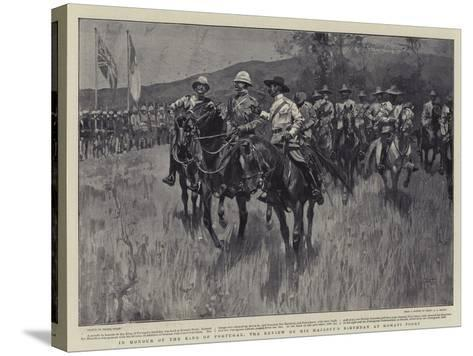 In Honour of the King of Portugal, the Review on His Majesty's Birthday at Komati Poort-Frank Craig-Stretched Canvas Print