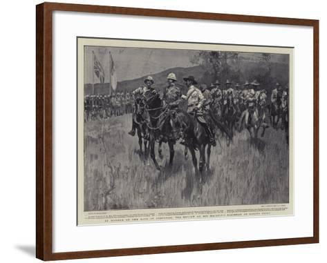 In Honour of the King of Portugal, the Review on His Majesty's Birthday at Komati Poort-Frank Craig-Framed Art Print