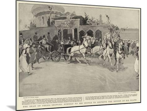 The Shah of Persia Showing Himself to His People to Disprove the Report of His Death-Frank Craig-Mounted Giclee Print