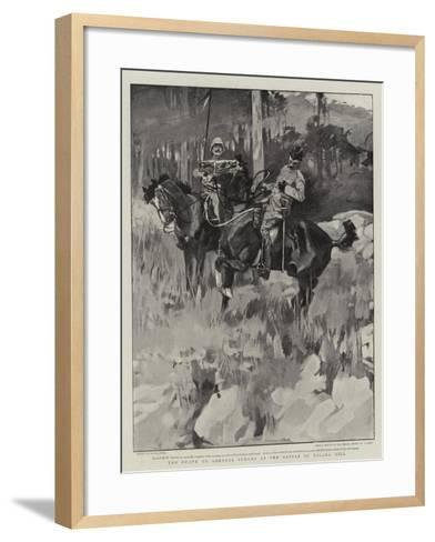 The Death of General Symons at the Battle of Talana Hill-Frank Craig-Framed Art Print