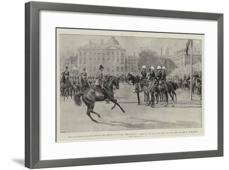 The Volunteer Review before the Prince of Wales-Frank Dadd-Framed Art Print