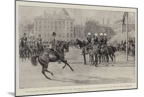 The Volunteer Review before the Prince of Wales-Frank Dadd-Mounted Giclee Print