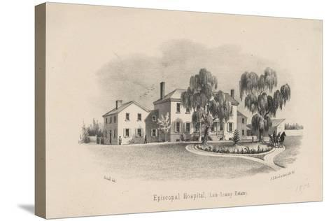 Episcopal Hospital, 1856-Francis Schell-Stretched Canvas Print