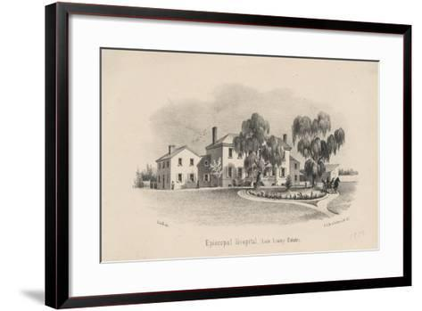 Episcopal Hospital, 1856-Francis Schell-Framed Art Print