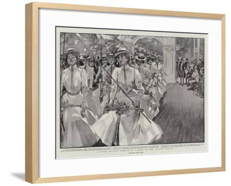 A Novel Bicycle Display by Ladies at the Crystal Palace-Frank Craig-Framed Art Print