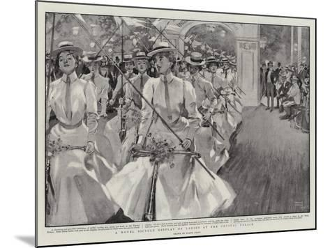 A Novel Bicycle Display by Ladies at the Crystal Palace-Frank Craig-Mounted Giclee Print