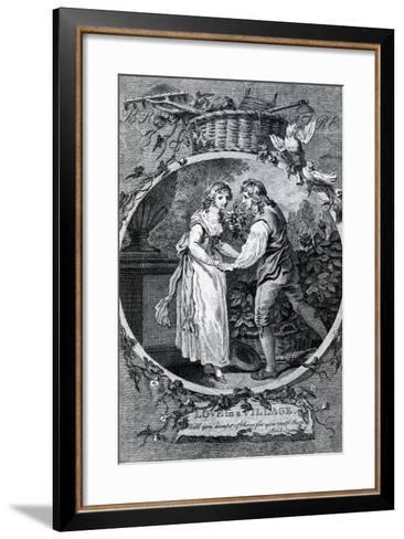 Love in a Village, 1791-Francis Wheatley-Framed Art Print