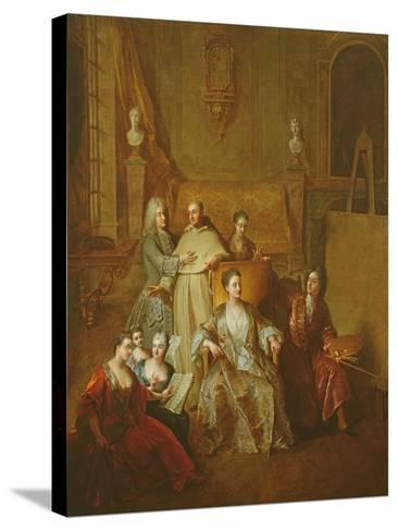 The Artist and His Family, C.1708-Francois de Troy-Stretched Canvas Print