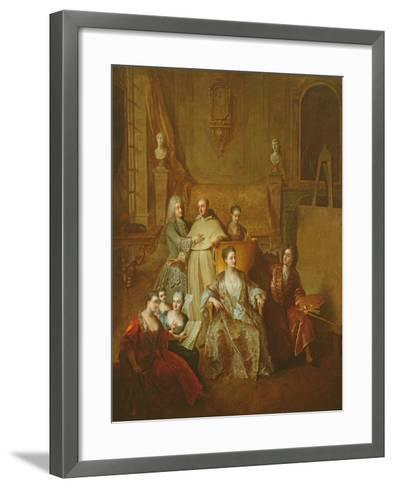 The Artist and His Family, C.1708-Francois de Troy-Framed Art Print