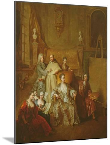 The Artist and His Family, C.1708-Francois de Troy-Mounted Giclee Print