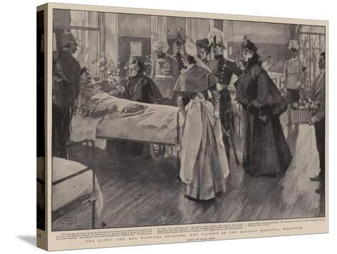 The Queen and Her Wounded Soldiers, Her Majesty at the Herbert Hospital, Woolwich-Frank Craig-Stretched Canvas Print