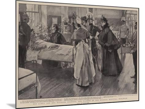 The Queen and Her Wounded Soldiers, Her Majesty at the Herbert Hospital, Woolwich-Frank Craig-Mounted Giclee Print