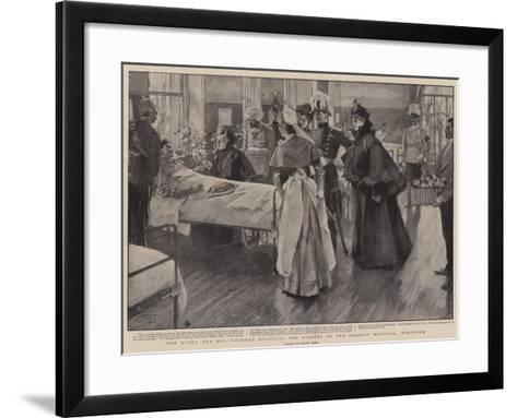 The Queen and Her Wounded Soldiers, Her Majesty at the Herbert Hospital, Woolwich-Frank Craig-Framed Art Print