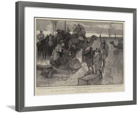 On the March to Abu Hamed, Loading Up Camels at Dawn-Frank Craig-Framed Art Print