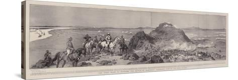 The Final Blow to Mahdism, the Battle of Omdurman, Panoramic View of the Main Attack-Frank Dadd-Stretched Canvas Print