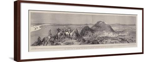 The Final Blow to Mahdism, the Battle of Omdurman, Panoramic View of the Main Attack-Frank Dadd-Framed Art Print