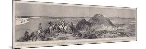 The Final Blow to Mahdism, the Battle of Omdurman, Panoramic View of the Main Attack-Frank Dadd-Mounted Giclee Print