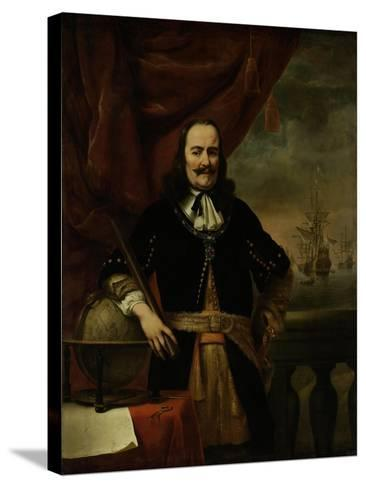 Michiel De Ruyter as Lieutenant-Admiral, 1667-Ferdinand Bol-Stretched Canvas Print