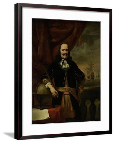 Michiel De Ruyter as Lieutenant-Admiral, 1667-Ferdinand Bol-Framed Art Print