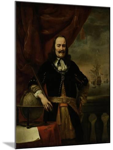 Michiel De Ruyter as Lieutenant-Admiral, 1667-Ferdinand Bol-Mounted Giclee Print