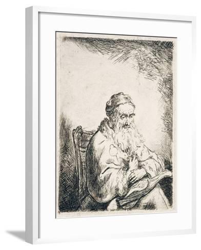 Man with Trefoil, C.1635-40-Ferdinand Bol-Framed Art Print