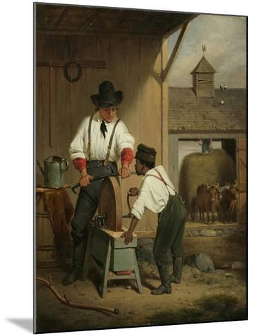 The Scythe Grinder, 1856-Francis William Edmonds-Mounted Giclee Print