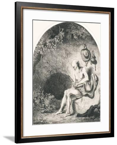 Saint Jerome, 1644-Ferdinand Bol-Framed Art Print