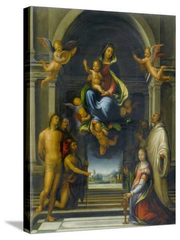 The Virgin and Child Surrounded by Saints, C.1570-1674-Fra Bartolommeo-Stretched Canvas Print